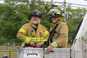 George Church & I in the bucket of Tisbury 651